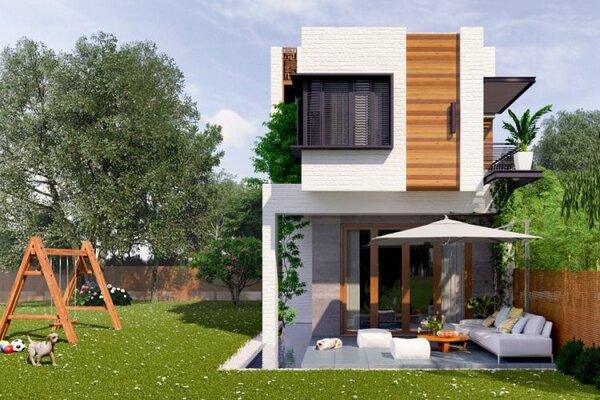 99+ Mẫu nhà đẹp 2 tầng 5×20 (m) giá rẻ, hiện đại, tiện nghi