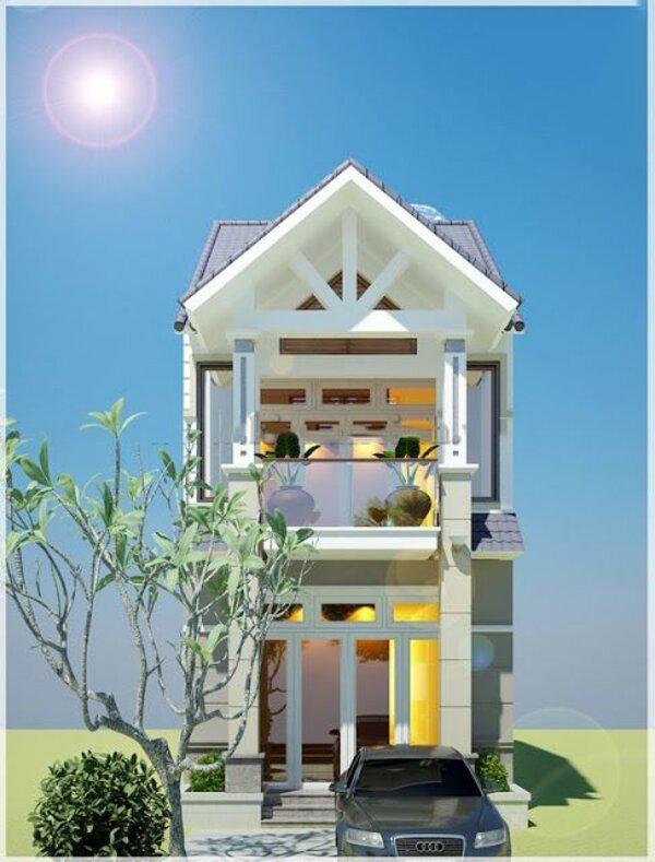 Mẫu nhà 2 tầng mái Thái hiện đại, sang trọng