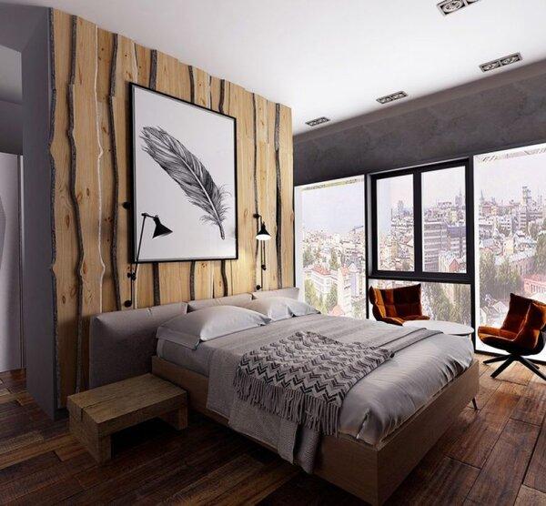Gỗ cũng là ý tưởng tuyệt vời cho phòng ngủ