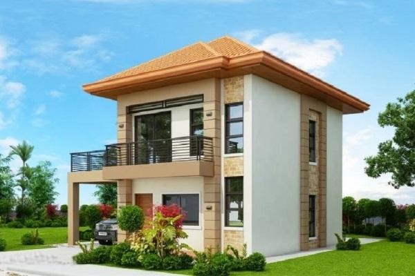 Tổng hợp mẫu thiết kế nhà mái Thái 2 tầng đẹp 2021