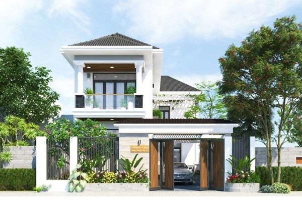 Hình 7. Mẫu nhà 2 tầng mái Thái đẹp, sang trọng