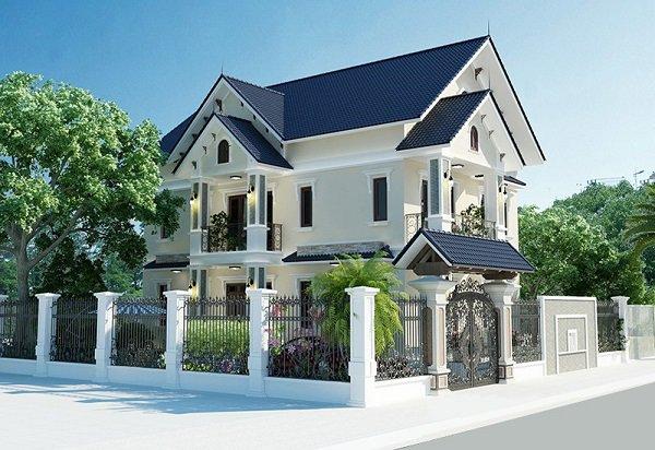 Hình 10. Mẫu nhà 2 tầng mái Thái đẹp, sang trọng