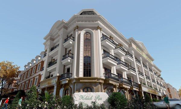 Phối cảnh khách sạn theo phong cách cổ điển được nhiều người ưa chuộng