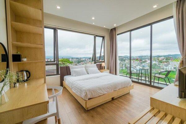 Phòng ngủ khách sạn 4 sao có thể ngắm view đẹp